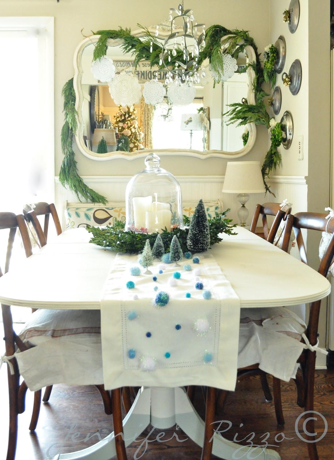 Decora O De Natal Sala De Jantar Solu Es Para Casa -> Decoracao Sala De Jantar Azul